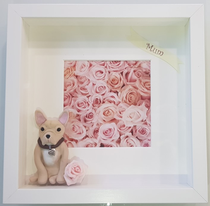 Personalised Mothers Day Dog Deep Box Frame