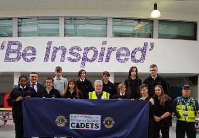 Cadets benefit from Corby Lions generosity