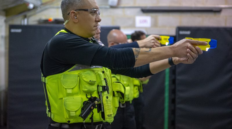 Northamptonshire Police is the first police force in the country to arm all front-line officers with Tasers